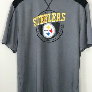 NFL Shirts - Men's Gray Pittsburgh Steelers NFL Lightweight L